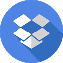 dropbox, social network, Brand, Brands And Logotypes, social media, Logo, logotype CornflowerBlue icon