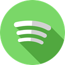 Logo, Spotify, social media, Brands And Logotypes, logotype, music player, Brand, social network DarkSeaGreen icon