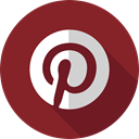 pinterest, Brands And Logotypes, social network, logotype, Logo, Logos, social media Brown icon