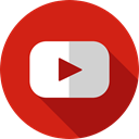 Brands And Logotypes, Logo, social media, video player, youtube, logotype, Brand, social network Firebrick icon