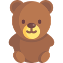Animal, puppet, bear, children, Fluffy, Kid And Baby, Animals, teddy bear, childhood Sienna icon