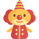 people, Clown, Fairground, doll, Circus, Kid And Baby, carnival IndianRed icon