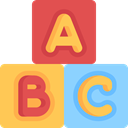 Toy, Kid And Baby, childhood, Blocks, Abc SandyBrown icon
