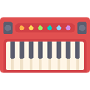 Keyboard, synthesizer, music, organ, musical instrument, piano, electronic, Music And Multimedia IndianRed icon
