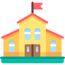 education, Kid And Baby, buildings, High School, Kindergarten, school, college SandyBrown icon