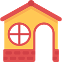 real estate, Playground, Home, house, buildings, childhood, Kid And Baby IndianRed icon