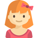 Kid And Baby, user, Avatar, Girl, people, woman, young Coral icon