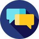 Conversation, speech bubble, speech bubbles, Multimedia, Communications, Chat, Communication MidnightBlue icon