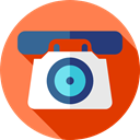 telephone, technology, phone call, Call, Conversation, Communications, Telephone Call, phone Coral icon