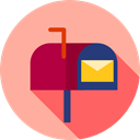 symbol, mail, Communications, Tools And Utensils, Mailbox LightPink icon
