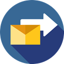 Message, Communications, Email, sending, Note, interface, mail, send, envelope SteelBlue icon