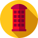 Communication, Communications, Telephone Box, phone call, technology, Phone Booth Gold icon