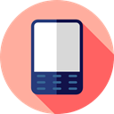 pda, Communications, mobile phone, electronic, smartphone, technology, cellphone LightPink icon