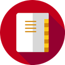 contacts, Agenda, notepad, phone book, emails, Communications Firebrick icon