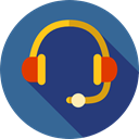 Videocall, Communications, earphones, technology, Headset, Headphones, customer service, Microphone DarkSlateBlue icon