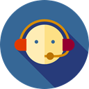Avatar, Headphones, Microphone, user, Professions And Jobs, customer service, Call, Telemarketer, people, technology, support SteelBlue icon