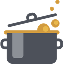 food, fire, Cook, Cooking, hot, boiling, Stew, Food And Restaurant, pot DarkSlateGray icon