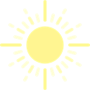 Sunny, nature, sun, summer, weather, Sunshine Black icon