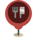 pin, placeholder, Map Locator, Maps And Location, Map Location, Food And Restaurant, Restaurant, Maps And Flags, map pointer Maroon icon