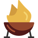 Food And Restaurant, Barbecue, Tools And Utensils, Summertime, Cooking Equipment, grill, bbq SandyBrown icon