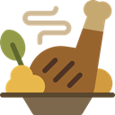 Cooking, meat, food, Plate, Food And Restaurant, Dish Sienna icon