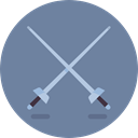 foil, saber, swords, weapons, Olympic Games, Sports And Competition, sports, Fencing LightSlateGray icon