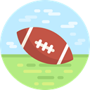 American football, Team Sport, Sports And Competition, team, equipment, sports PaleTurquoise icon