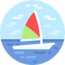 sailing, transportation, Sports And Competition, transport, Boats, Boat, sail, Sailboat PaleTurquoise icon