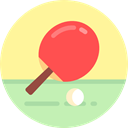 ping pong, racket, equipment, table tennis, sports, Sports And Competition Khaki icon