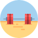 gym, Sports And Competition, fitness, sport, weightlifting, exercise, sports LightBlue icon