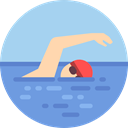 Water Sports, sports, swimming, Olympic Games, swim, Sports And Competition, olympic LightBlue icon