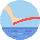 Water Sports, Diving, Sports And Competition, Olympic Games LightBlue icon