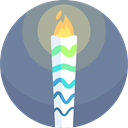 olympic, Games, fire, Flame, Sports And Competition, torch, sports LightSlateGray icon