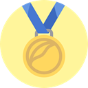Sports And Competition, gold medal, winner, medal, sports, Best, Prize, First Khaki icon