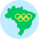 Olympic Games, Maps And Location, Geography, Map, brazil PaleTurquoise icon