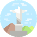 Rio De Janeiro, brazil, Monuments, Christ The Redeemer, Statue, landmark, Monument PaleTurquoise icon