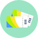 entertainment, show, tickets, pass, Ticket LightBlue icon