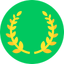 award, Sports And Competition, branch, wreath SpringGreen icon