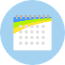Calendar, interface, date, Calendars, Time And Date, Schedule, time, Administration, Organization LightBlue icon