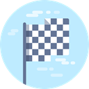 flag, race, squared, racing, Sports And Competition, Finish, Maps And Flags, Squares PaleTurquoise icon