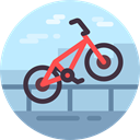 Sports And Competition, exercise, cycling, Bicycle, sports, transport, transportation, vehicle, sport, Bike PaleTurquoise icon