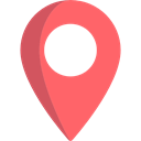 Map Point, signs, placeholder, Maps And Location, interface, map pointer, Map Location, pin Salmon icon