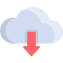 download, ui, Multimedia Option, storage, Data, Cloud computing, interface, Multimedia, web Gainsboro icon