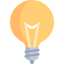 Idea, electricity, invention, Light bulb, technology, electronics, illumination Khaki icon