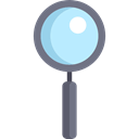 detective, magnifying glass, Loupe, zoom, search, Tools And Utensils Icon