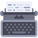 Writing Tool, typewriter, writing, Page, sheet DarkSlateGray icon