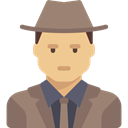 people, spy, job, detective, Agent, Man, Avatar, profession, user, Professions And Jobs, Occupation DimGray icon