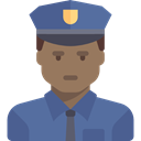 Professions And Jobs, job, Avatar, Occupation, Man, security, people, user, Policeman, profession SteelBlue icon