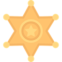 signs, security, secure, police, symbol, Sheriff, Protection SandyBrown icon