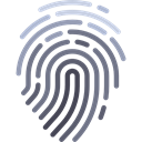 Fingerprint, evidence, detective, security, identification Black icon
